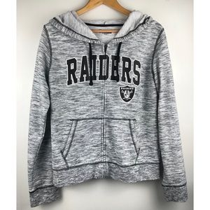 NFL Apparel Raiders Zip Up Sweater